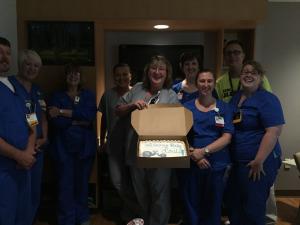 nurses with cake